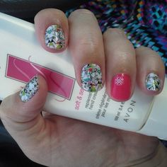 Easy Nail Art Design - Accent Manicure