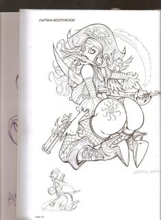 Pop Art Drawing, Graffiti Drawing, Sexy Drawings, Art Drawings Sketches, Character Drawing, Character Design, Dibujos Pin Up, Pirate Art, Fantasy Art Women
