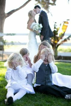 Cute idea with the kids in wedding party