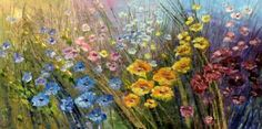"""Tatiana Iliina; Painting, """"GLORY'S BLOOM"""" 24x48 inches """"...Such mystic beauty might have shone In Sardis or in Babylon..."""""""