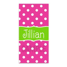 Pink and Lime Green Dot Beach Towel