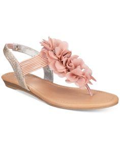4999d3547 Material Girl Sari Floral Embellished Flat Sandals