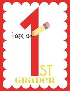 download prints for each year and have your child hold it up on their 1st day of school for that year!
