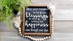 Blessing Sign - Farmhouse Decor - Welcome Sign - Home Decor - Farmhouse Signs