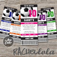 Soccer ticket, Soccer Birthday Invitation, end of season banquet, team party, tournament ticket, digital printable template, girl, boy