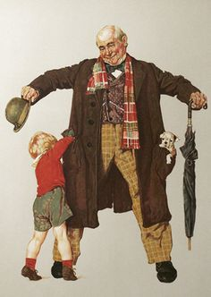 """Limited Edition Print """"Child's Surprise"""" by Norman Rockwell"""