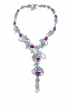 The Chopard earrings that match this necklace are amazing.  As much as I love the earrings and pretty much everything else in this collection, this particular piece is kind of creepy.  With the mice crawling all over each other.  Like the carp at the lake.  Gross.
