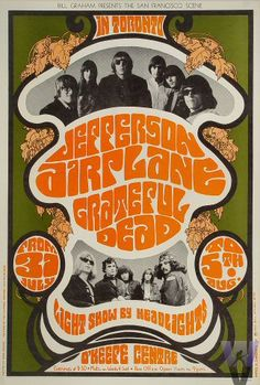 Jefferson Airplane | Art by: James H. Gardner & Herb Greene (I kid you not) | Jul 31, 1967 - Aug 5, 1967 | Venue: O'Keefe Center (Toronto, Ontario)