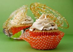 Tripe Salted Caramel Cupcakes...I tried this recipe last Thanksgiving. It's a ton of work, but they're oh so delicious. I'm so obsessed with salted caramel desserts