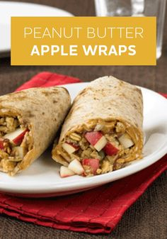 Peanut Butter Apple Wraps is a healthier comfort food to try this fall. Spread a tortilla with peanut butter and sprinkle with chopped apple and granola!