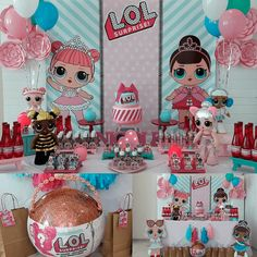 Buffet lol - news vip site 6th Birthday Parties, Surprise Birthday, 7th Birthday, Birthday Ideas, Doll Party, Little Girl Birthday, Lol Dolls, Unicorn Party, Party Time