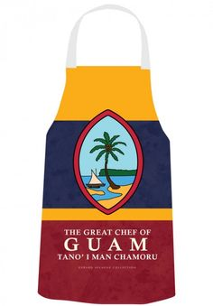 Gerard Aflague Collection Store - Chef's Apron - Guam Seal Design - Chamorro, $26.99 (http://www.gerardaflaguecollection.com/chefs-apron-guam-seal-design-chamorro/)