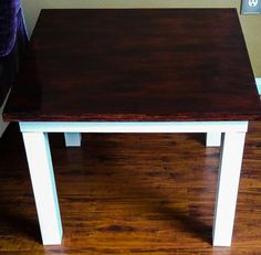 Rustic white end table