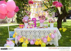 birthday party ice cream Kaisercraft Bombay Sunset party decor