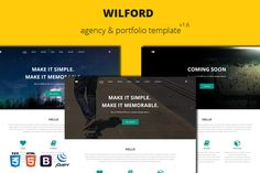 Wilford – Responsive Agency Template by Slongrad on Creative Market