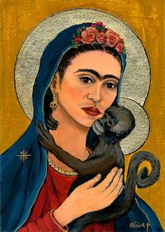 Frida icon with monkey | Alisa Proctor