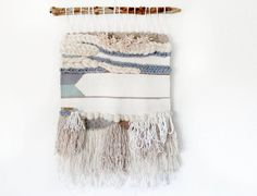 Hand-woven tapestry. Boho | Tapestry | Wool | Pastel blue turquoise | Hand made | Wall art
