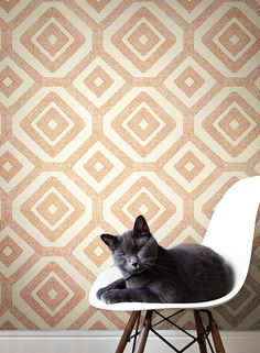 A different take on most geometric print that are out there. #geometric #modern #wallpaper lelandswallpaper.com   #geometric