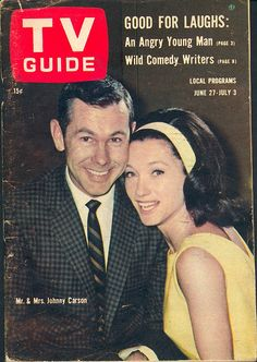June 1964 - Johnny Carson [The Tonight Show ] and his second wife Joanne Carson. Here's Johnny, Johnny Carson, Father Knows Best, Be With You Movie, Movie Magazine, Old Tv Shows, Vintage Tv, Tv Guide, Classic Tv