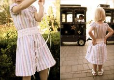 TUTORIAL: The Shirt Dress -   Turn a Men's Dress Shirt into a Girl's Summer Dress! It's fun, easy, and a great way to reuse one of Dad's old shirts. ~ http://www.danamadeit.com/2008/07/tutorial-the-shirt-dress.html