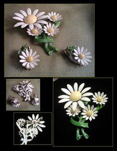 Vintage Flower Power 1960's daisy brooch n clip by PurpleHazeDayz, $32.00