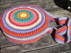 crochet circle purse::inspiration::