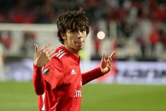 Benfica's Portuguese forward Joao Felix celebrates after scoring a goal during the UEFA Europa League Quarter-Finals Leg football match SL Benfica vs Eintracht Frankfurt at the Luz Stadium in. Get premium, high resolution news photos at Getty Images Soccer Stars, Soccer Boys, Soccer Quotes, Don Juan, Europa League, Football Match, Real Madrid, Scores, Goals