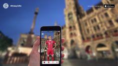 """Der FC Bayern präsentierte in seiner App eine """"Augmented Reality""""-Funktion .. Blöd nur, dass die Funktion auf Telefone aus dem Hause Apple begrenzt ist, ein gutes """"Roll-Out"""" läuft wohl doch anders .."""