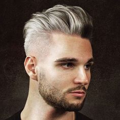 How To Style A Modern Pompadour Silver Hair + Pomp Fade + Beard Mens Hairstyles 2018, Mens Braids Hairstyles, Cool Hairstyles For Men, Hairstyles Haircuts, Hairstyle Ideas, Pompadour Men, Modern Pompadour, Pompadour Hairstyle, Pompadour Style