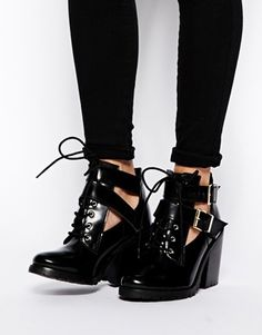 Enlarge ASOS EIFFEL Leather Ankle Boots