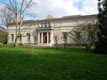 Another view of the Barnes Foundation building on Benjamin Franklin Parkway in Philadelphia