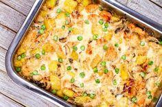 Caserolă de pui, ciuperci și cartofi în sos cremos | Retete culinare - Romanesti si din Bucataria internationala