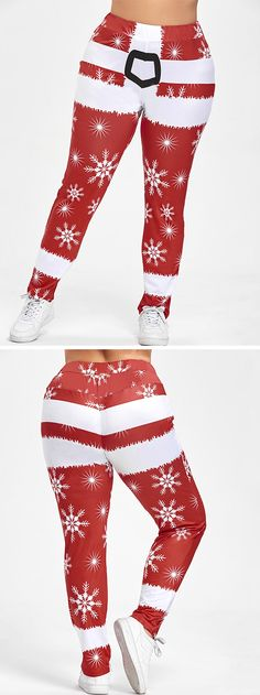 Christmas Snowflake Pants to wear now.Shop this look,Free Shipping Worldwide!