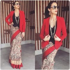 The Most Stylish Blouses Worn By Celebrities Lately Blouse Back Neck Designs, Saree Blouse Designs, Saree Wearing Styles, Saree Styles, Dress Styles, Trendy Sarees, Stylish Sarees, Indian Dresses, Indian Outfits