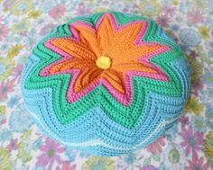 Chiaki Creates Razzamatazz crochet cushion