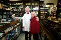 Inside Sweny's Chemist. On the left, is my friend P J Murphy, dressed as an Edwardian chemist. He performs readings from the works of Joyce in several languages. He can also sell you a copy of my book, London Irish Dublin English, if you ask him nicely and tell him I sent you!. Cafe Seating, I Sent You, Chemist, Ireland Travel, Dublin, Languages, Lincoln, Lotus, Irish