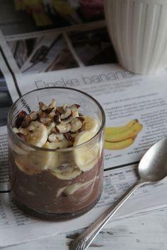 Yoghurt and kakao, havregryn og banan