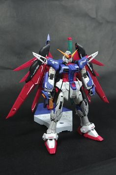 GUNDAM GUY: RG 1/144 Destiny Gundam + Wing of Light Expansion Set - Painted Build
