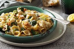 Dani Venn's delicious broccoli and anchovy orecchiette with garlic croutons makes a great meal for the whole family.
