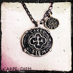 Carpe Diem Necklace Seize the Day Pendant Jewellery Silver Black Gold Metals