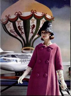 Pierre Cardin Hat and Coat , Paris 1960