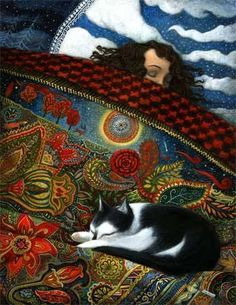 Illustration/Painting by Fabrice Backes Crazy Cat Lady, Crazy Cats, I Love Cats, Cool Cats, Illustrations, Illustration Art, Art Graphique, Cat Drawing, Cat Art