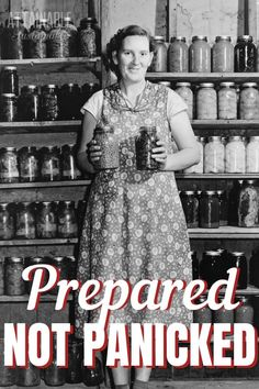 What does a well-stocked pantry require? Lots of basics! Stocking it with simple ingredients will keep food on the table and it's budget-friendly, too. No need to panic when things get dicey -- just be prepared! Home Recipes, Real Food Recipes, Carlito's Way, Provident Living, Living Off The Land, Preserving Food, Canning Recipes, Emergency Preparedness, Sustainable Living