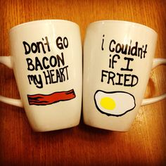 Bacon and Eggs Mugs Set from on Etsy. Saved to Things I want as g - Coffee Set - Ideas of Coffee Set - Bacon and Eggs Mugs Set from on Etsy. Saved to Things I want as gifts Cute Mugs, Funny Mugs, Funny Coffee, Diy Becher, Coffee Cups, Tea Cups, Coffee Coffee, Coffee Time, Egg Mug