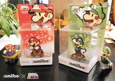 Amiibo Custom - Paper Mario and Paper Luigi by NBros.deviantart.com on @DeviantArt