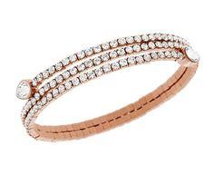 Swarovski Jewellery - Rose Gold Bracelets - Twisty Bracelet - Pre Order (5073594) | David Shuttle