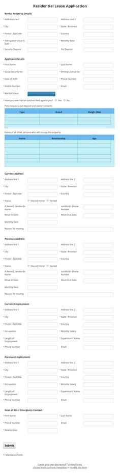 Expense Reimbursement Form by Borneosoft Online Forms Borneosoft - application forms