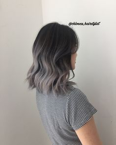 For a sexy, stylish, and simple look, try out the silver ombre hair. It will bring out elegance and sophistication while being trendy! makeup looks Silver Ombre Hair Short Hair Makeup, Short Hair Updo, Curly Hair Styles, Updo Hairstyle, Hairstyle Ideas, Balayage Short Hair, Hair Ideas, Balayage Hair Grey, Blonde Hair