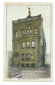 """Vintage Post Card Johnstown PA """"Elks Home"""" 17 Unused"""