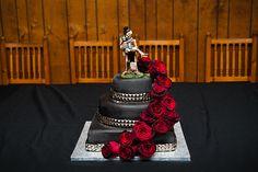 Mandy & Jamie's skulls and roses cottage wedding | Offbeat Bride